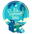 summer holiday and camp poster vector image vector image