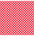 table cloth seamless pattern red diagonal vector image vector image