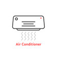 thin line air conditioner icon vector image vector image