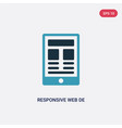 two color responsive web de icon from technology vector image vector image