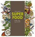 vertical banner with color realistic superfood vector image vector image