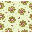 Vintage floral seamless pattern with birds vector image vector image