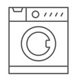 washing machine thin line icon household vector image vector image