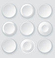 white circles abstract disk frames vector image vector image