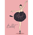 with ballet dancer vector image vector image