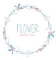 wreath flowers and leaves isolated on white vector image