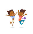 couple of african american children boy and girl vector image