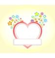 floral heart wedding vector image
