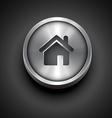 metallic home icon vector image