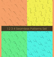 1 2 3 4 nuber seamless patterns set numbers vector image