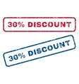 30 Percent Discount Rubber Stamps vector image