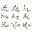 A set of pelicans storyboards vector image vector image