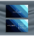 abstract line style blue business card vector image vector image