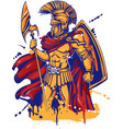 an a warrior character or sports mascot vector image vector image