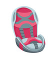 baby car seat cartoon flat style safety seat vector image