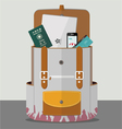 Backpack with goods vector image vector image
