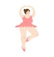 ballerina is fat big woman in punt dance swimsuit vector image