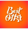 Best Offer Logo Best Offer print on T-shirt vector image