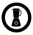 blender icon black color in circle vector image vector image