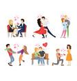 boyfriend girlfriend rest restaurant dance tango vector image vector image