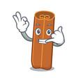 call me cinnamon mascot cartoon style vector image vector image