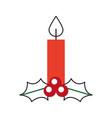 christmas candle burning celebration decoration vector image vector image