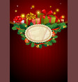 christmas festive background image vector image vector image