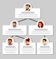 colleagues working flow chart employee vector image
