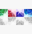 colorful abstract geometric backgrounds set vector image