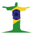 colorful silhouette with brazil symbol vector image vector image