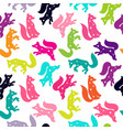 cute seamless pattern with a fox constellation of vector image vector image