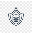 data security concept linear icon isolated on vector image