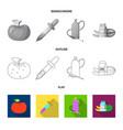 design of genetic and plant symbol vector image vector image