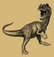 Dinosaur drawing vector image vector image