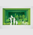 eco and world environment day with happy vector image vector image