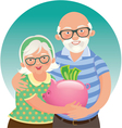Elderly couple retired vector image vector image