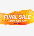 final sale discount coupon voucher design template vector image vector image