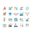 financial management colored icons vector image vector image
