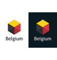 flag belgium in set flat labels vector image vector image