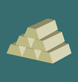 flat icon on stylish background gold bars vector image vector image