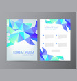 flyer brochure abstract design 2 sides vector image vector image