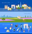france banners set vector image vector image