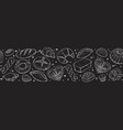 fresh bread poster illustration vector image vector image
