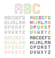 Geometric Alphabet Line Font Graphic ABC vector image