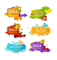 Geometry Sale Label Set vector image vector image