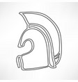 greek ancient helmet icon isolated vector image