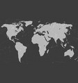 grunge world map vector image vector image