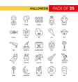 halloween black line icon - 25 business outline vector image