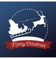 happy merry christmas isolated icon design vector image vector image