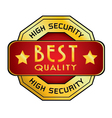 High Security Best Quality Logo High Security vector image